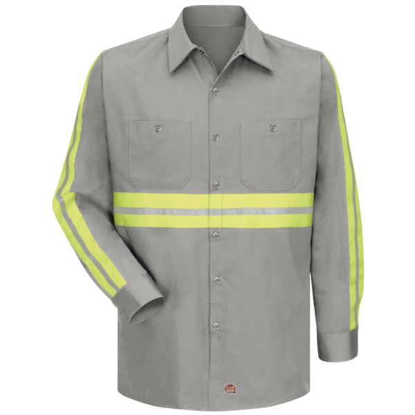 Product Shot - Long Sleeve Enhanced Visibility Cotton Work Shirt