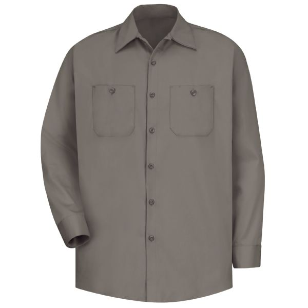 Product Shot - Men's Long Sleeve Wrinkle-Resistant Cotton Work Shirt