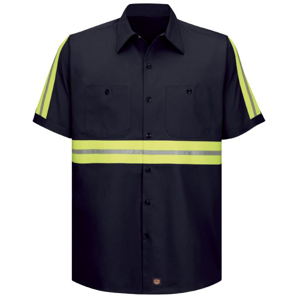 Product Shot - Short Sleeve Enhanced Visibility Cotton Work Shirt