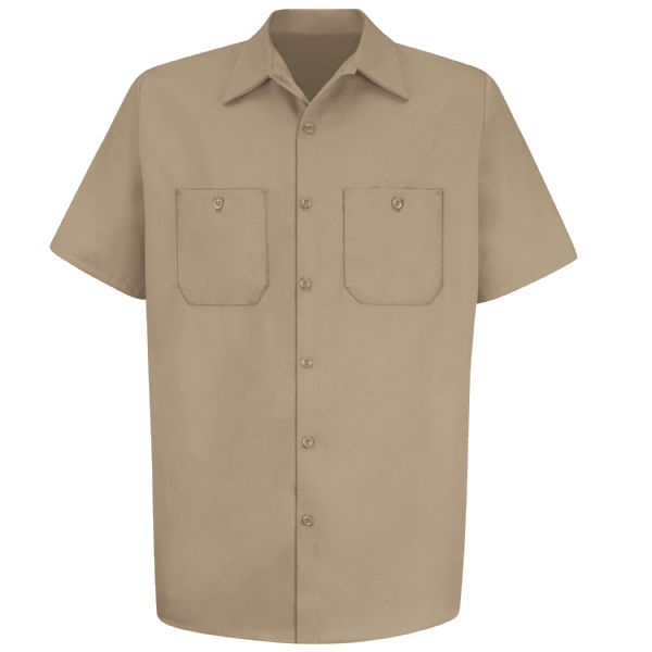Product Shot - Men's Short Sleeve Wrinkle-Resistant Cotton Work Shirt