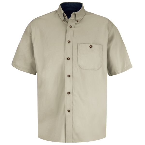 Product Shot - Men's Short Sleeve Cotton Contrast Dress Shirt