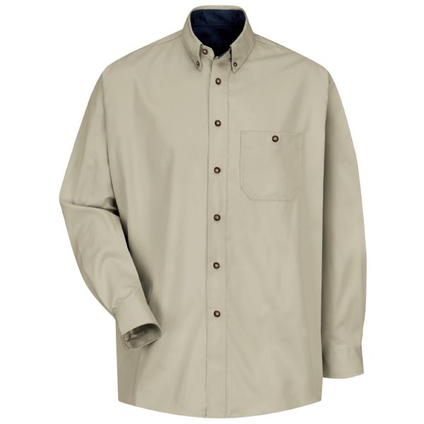 Product Shot - Men's Long Sleeve Cotton Contrast Dress Shirt