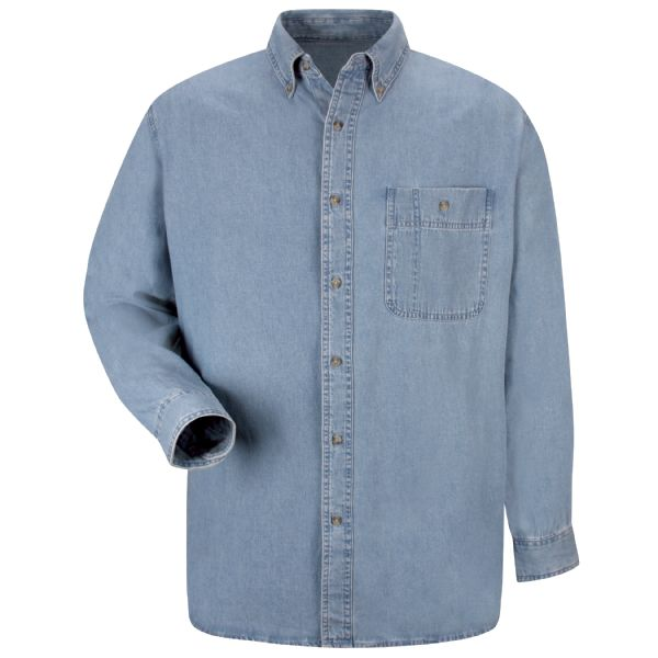 Men's Long Sleeve Wrangler Denim Shirt