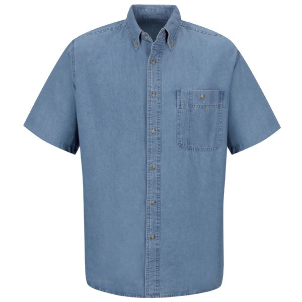 Product Shot - Men's Short Sleeve Wrangler Denim Shirt