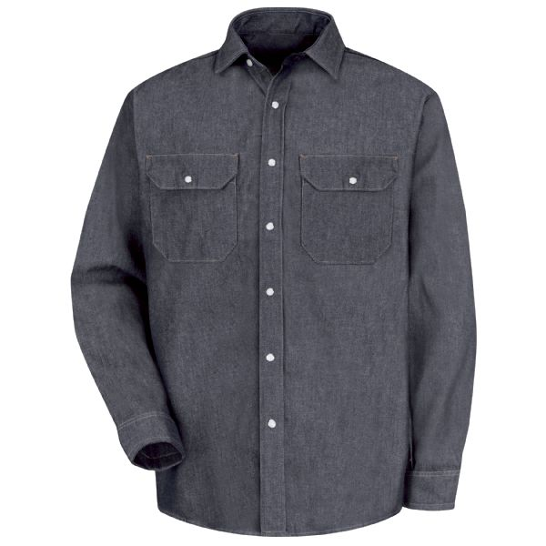 Product Shot - Men's Long Sleeve Deluxe Denim Shirt