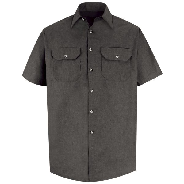 Product Shot - Men's Heathered Poplin Uniform Shirt
