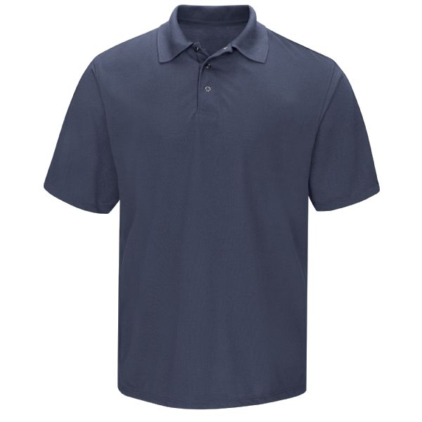 Men's Short Sleeve Spun Polyester Gripper-Front Polo