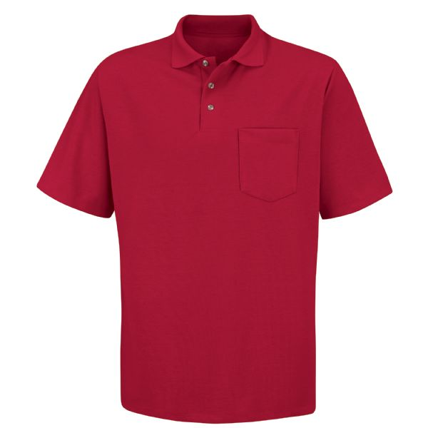 Men's Short Sleeve Performance Knit® 50/50 Blend Solid Polo