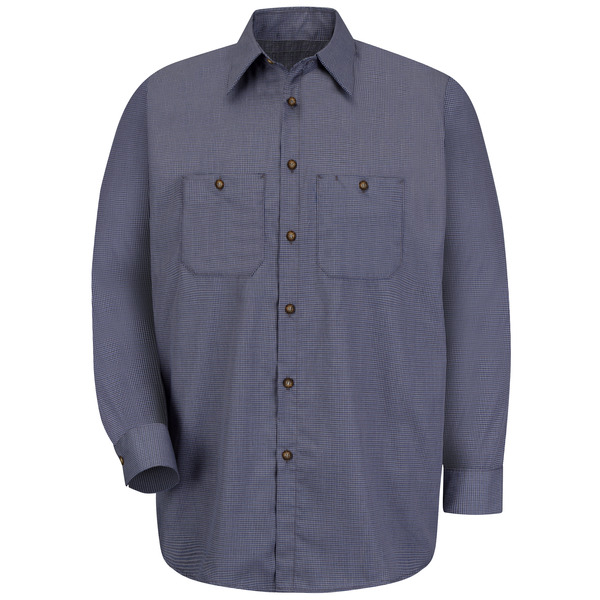 Product Shot - Men's Long Sleeve Microcheck Uniform Shirt