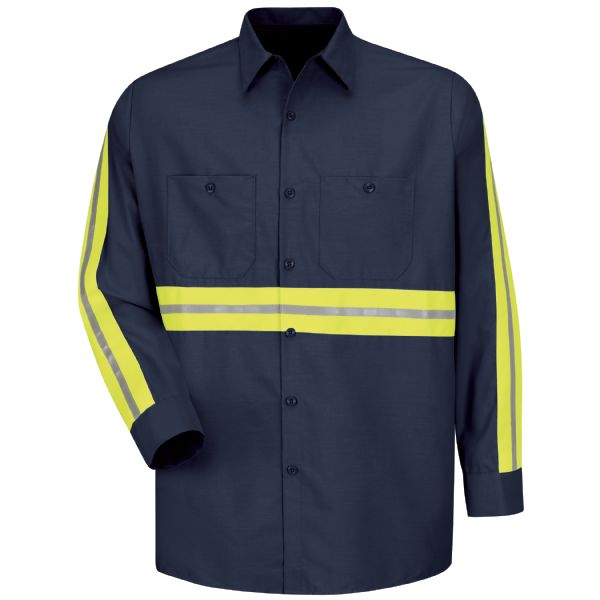 Product Shot - Long Sleeve Enhanced Visibility Industrial Work Shirt
