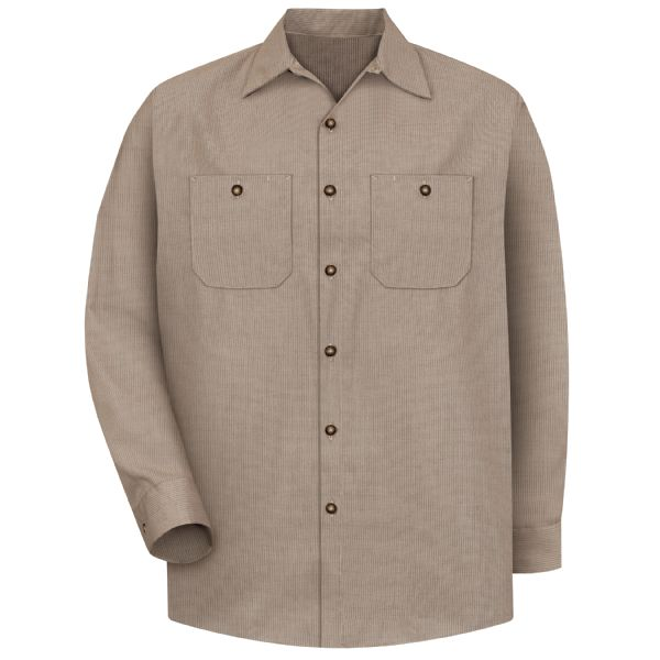 Product Shot - Men's Long Sleeve Geometric Microcheck Work Shirt