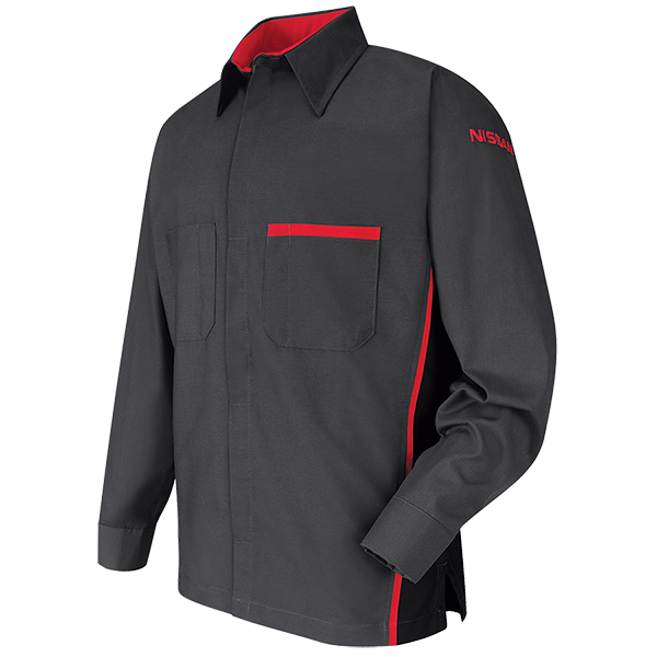 Red kap automotive shop coat safety protection warehouse for Red kap mechanic shirts