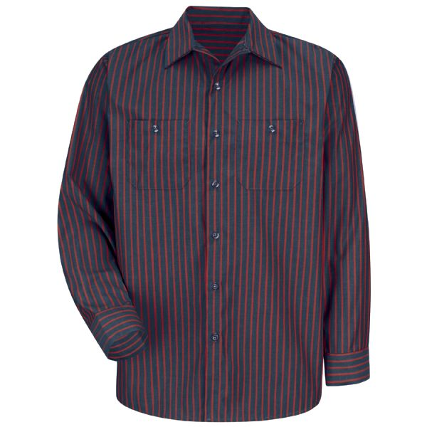 Product Shot - Men's Long Sleeve Industrial Stripe Work Shirt