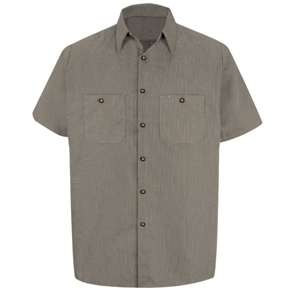 Product Shot - Men's Short Sleeve Microcheck Uniform Shirt