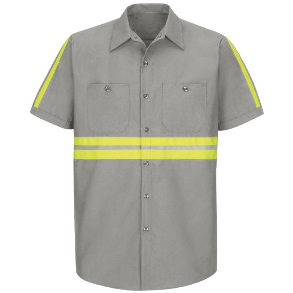 Product Shot - Short Sleeve Enhanced Visibility Industrial Work Shirt