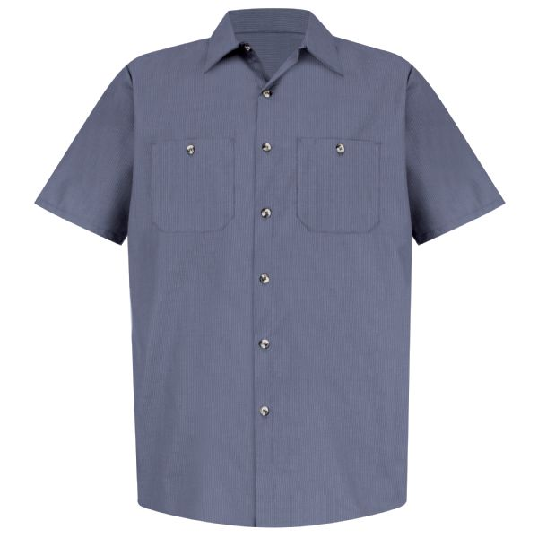 Men's Geometric Micro-Check Work Shirt