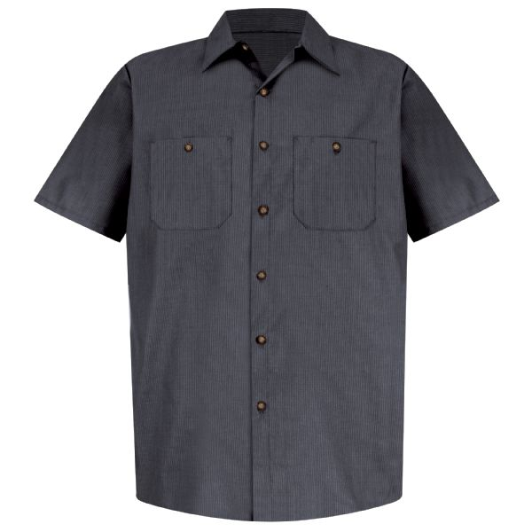 Product Shot - Men's Short Sleeve Geometric Microcheck Work Shirt