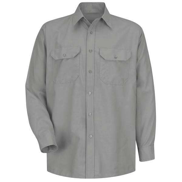 Product Shot - Men's Long Sleeve Solid Dress Uniform Shirt