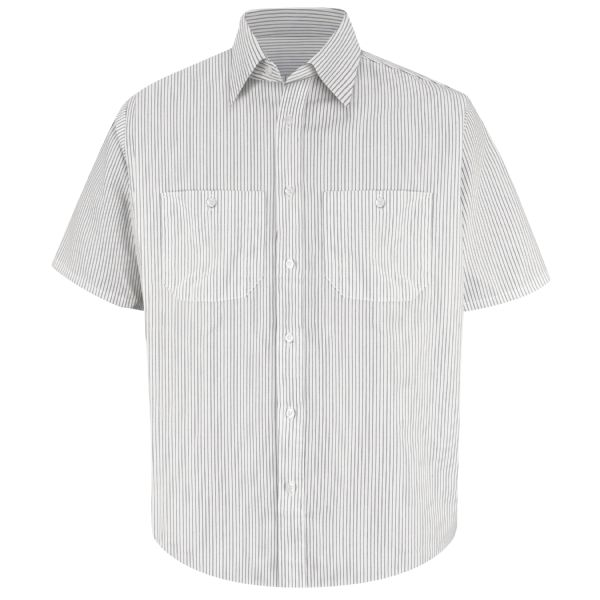 Product Shot - Men's Short Sleeve Striped Dress Uniform Shirt