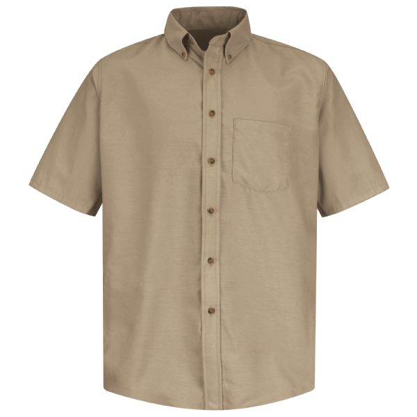 Men's Short Sleeve Poplin Dress Shirt