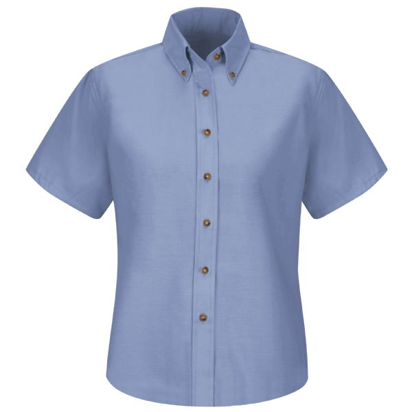 Product Shot - Women's Short Sleeve Poplin Dress Shirt