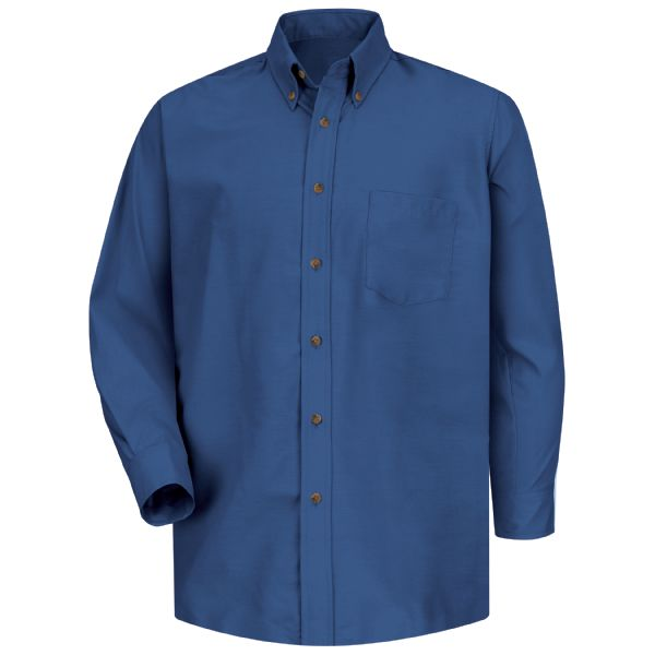 Men's Long Sleeve Poplin Dress Shirt