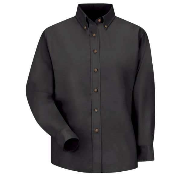Product Shot - Women's Long Sleeve Poplin Dress Shirt