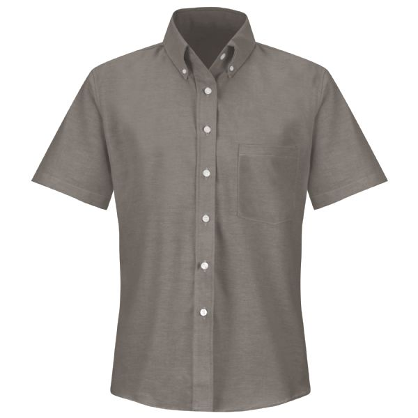 Product Shot - Women's Short Sleeve Executive Oxford Dress Shirt
