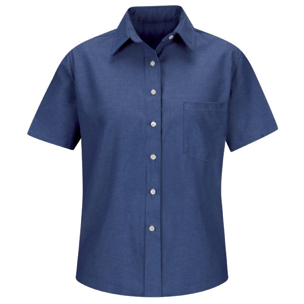 Product Shot - Women's Short Sleeve Oxford Dress Shirt