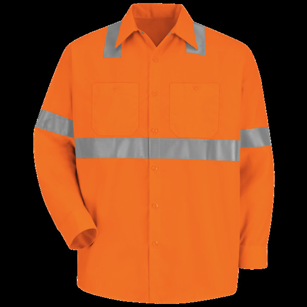 Product Shot - Hi-Visibility Long Sleeve Work Shirt - Type R, Class 2