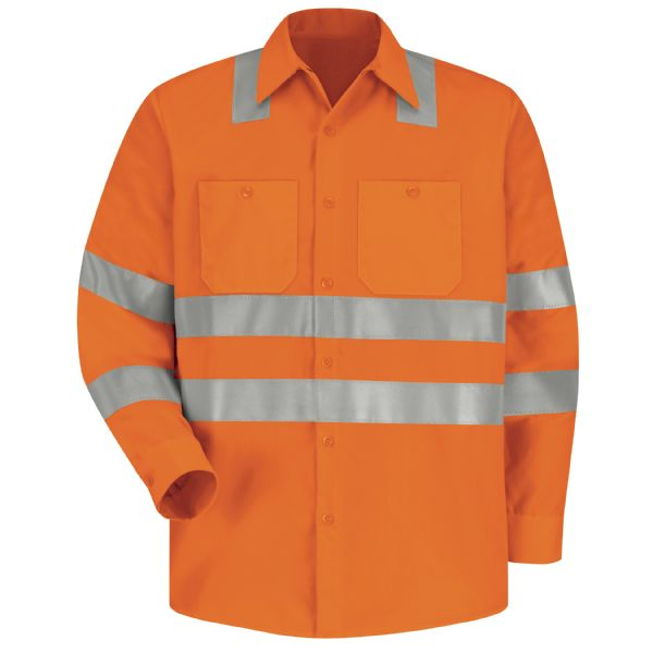 Product Shot - Hi-Visibility Long Sleeve Work Shirt - Type R, Class 3