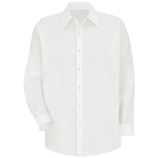 Product Shot - Men's Long Sleeve Specialized Pocketless Polyester Work Shirt