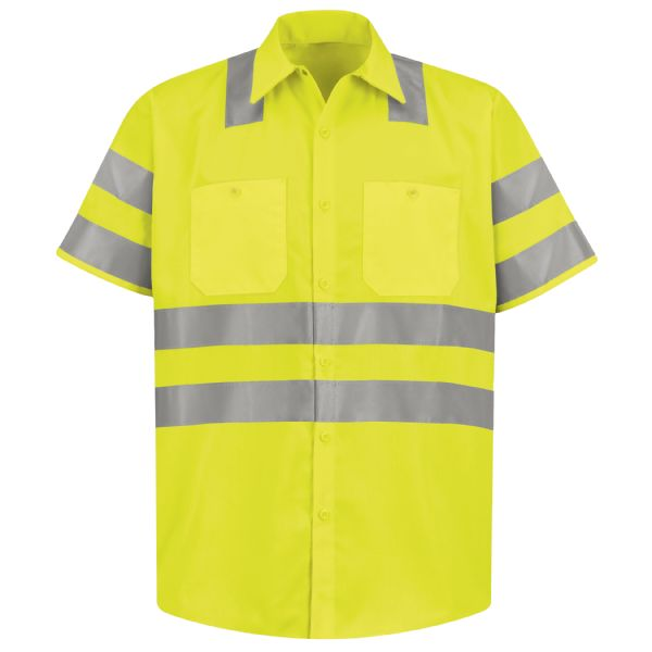 Product Shot - Hi-Visibility Short Sleeve Ripstop Work Shirt - Type R, Class 3