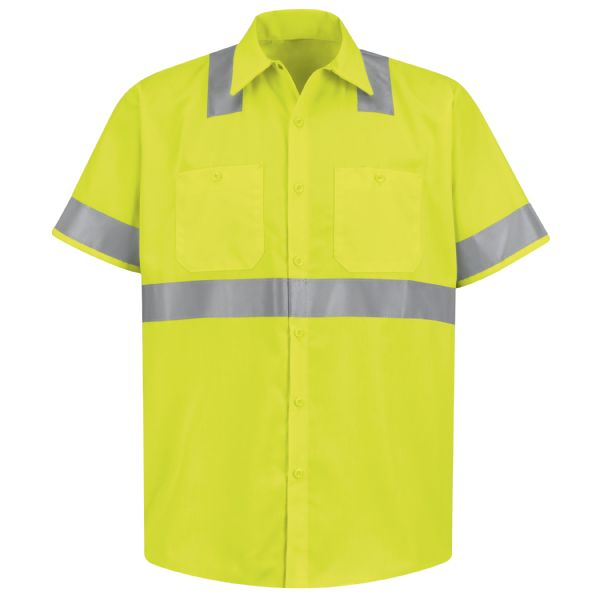 Product Shot - Hi-Visibility Short Sleeve Work Shirt - Type R, Class 2