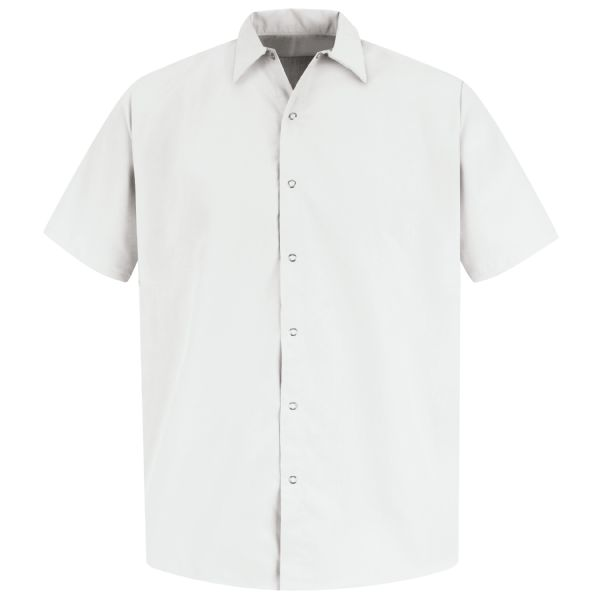 Product Shot - Men's Short Sleeve Specialized Pocketless Polyester Work Shirt