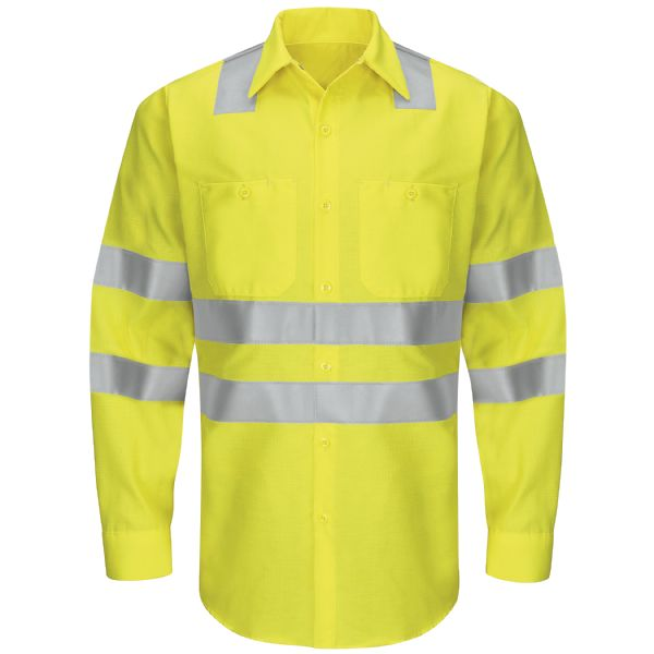 Product Shot - Hi-Visibility Long Sleeve Ripstop Work Shirt - Type R, Class 3