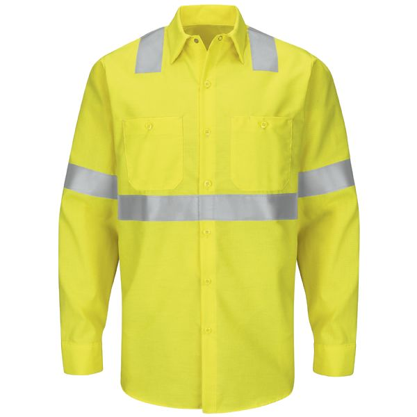 Product Shot - Hi-Visibility Long Sleeve Ripstop Work Shirt - Type R, Class 2