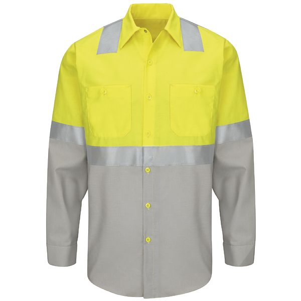 Product Shot - Hi-Visibility Colorblock Ripstop Work Shirt - Class 2 Level 2