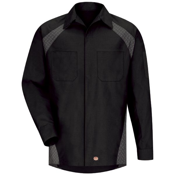 Product Shot - Men's Long Sleeve Diamond Plate Shop Shirt