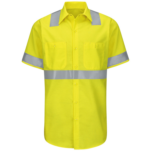 Product Shot - Hi-Visibility Short Sleeve Ripstop Work Shirt - Type R, Class 2