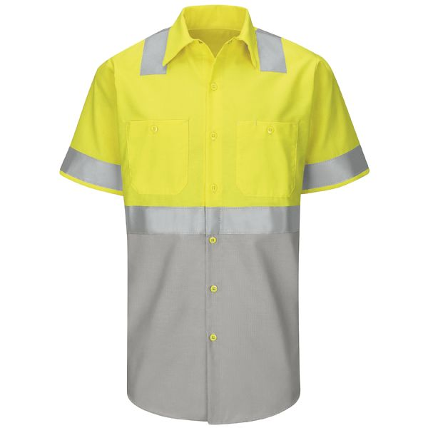 Product Shot - Hi-Visibility Short Sleeve Colorblock Ripstop Work Shirt - Type R, Class 2