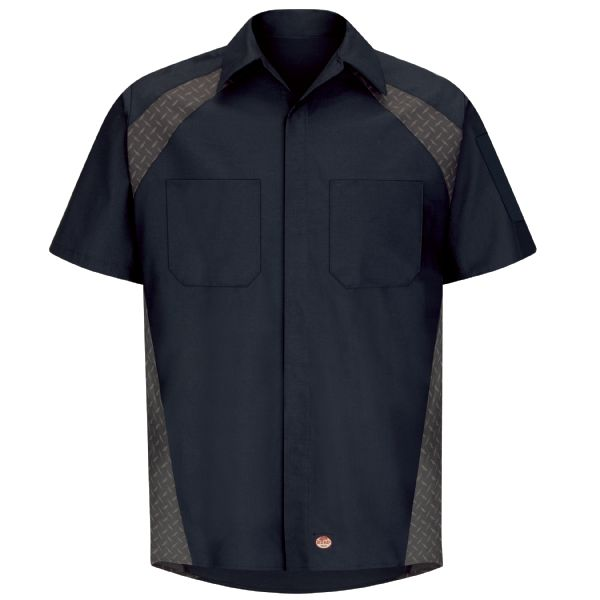 Product Shot - Men's Short Sleeve Diamond Plate Shop Shirt