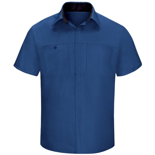 Product Shot - Men's Short Sleeve Performance Plus Shop Shirt with OilBlok Technology