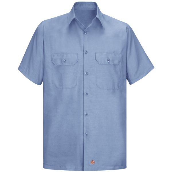 Men's Short Sleeve Solid Rip Stop Shirt