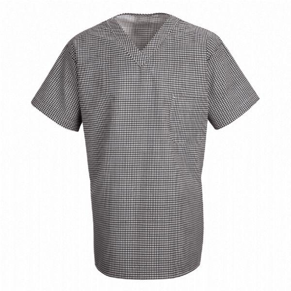 Product Shot - Checked V-Neck Chef Shirt