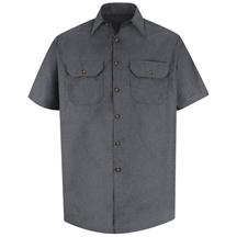 Short Sleeve Heathered Poplin UniformShirt
