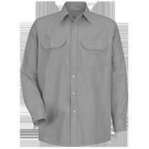 Long Sleeve Solid Dress Uniform Shirt