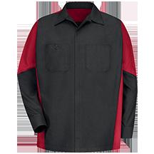 Men's Long Sleeve Two-Tone Crew Shirt