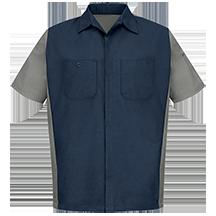 Men's Short Sleeve Two-Tone Crew Shirt