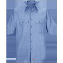 Short Sleeve Solid Rip Stop Shirt